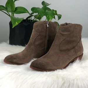 Sam Edelman Suede Peggy Tan Brown Bootie Size 6